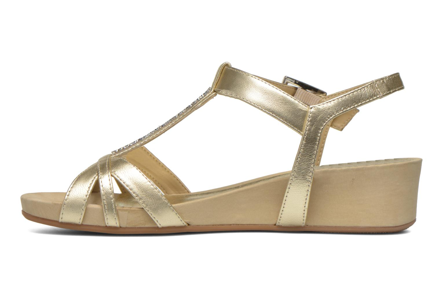 Sandals Unisa Boili Bronze and Gold front view