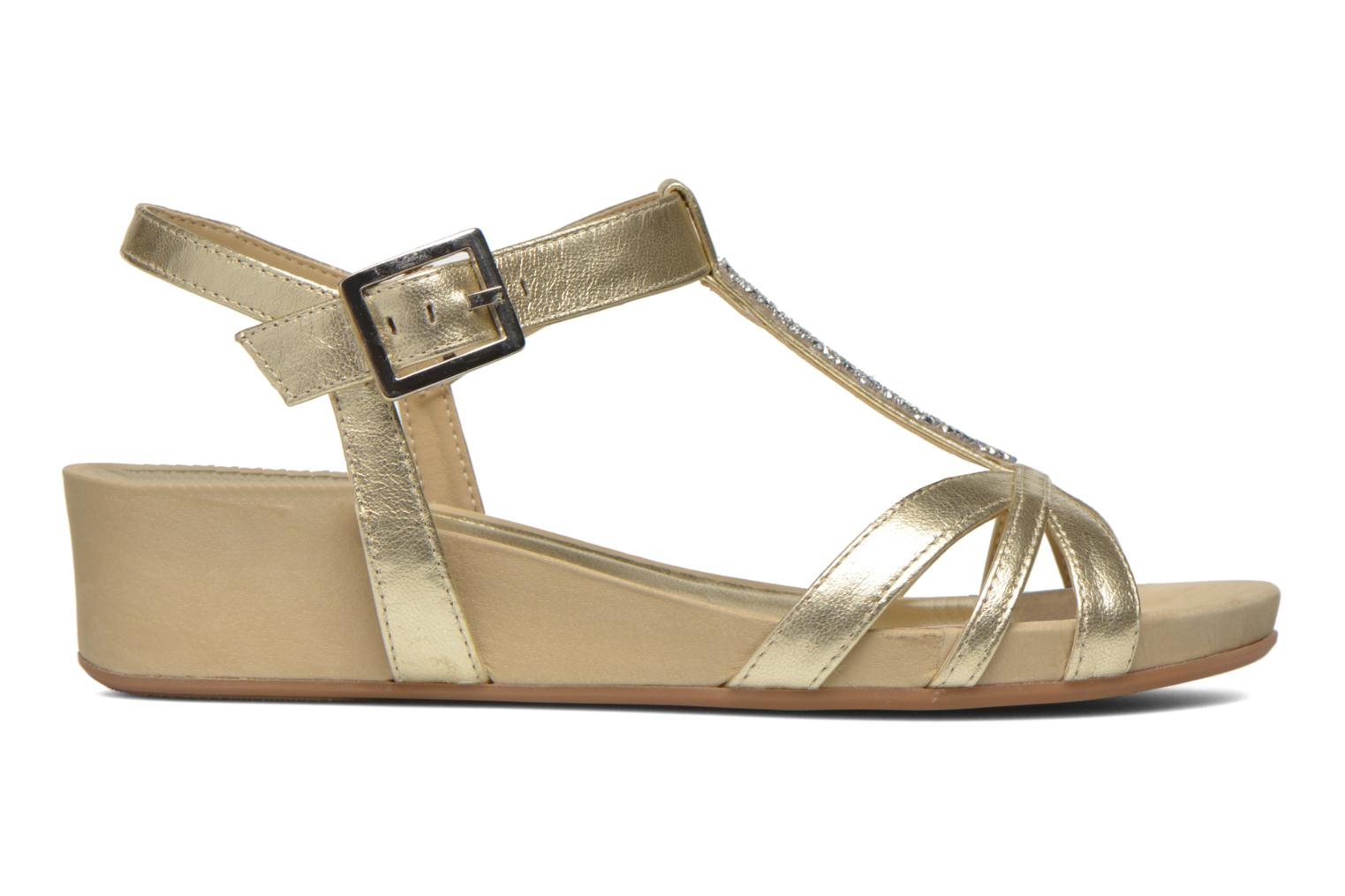 Sandals Unisa Boili Bronze and Gold back view
