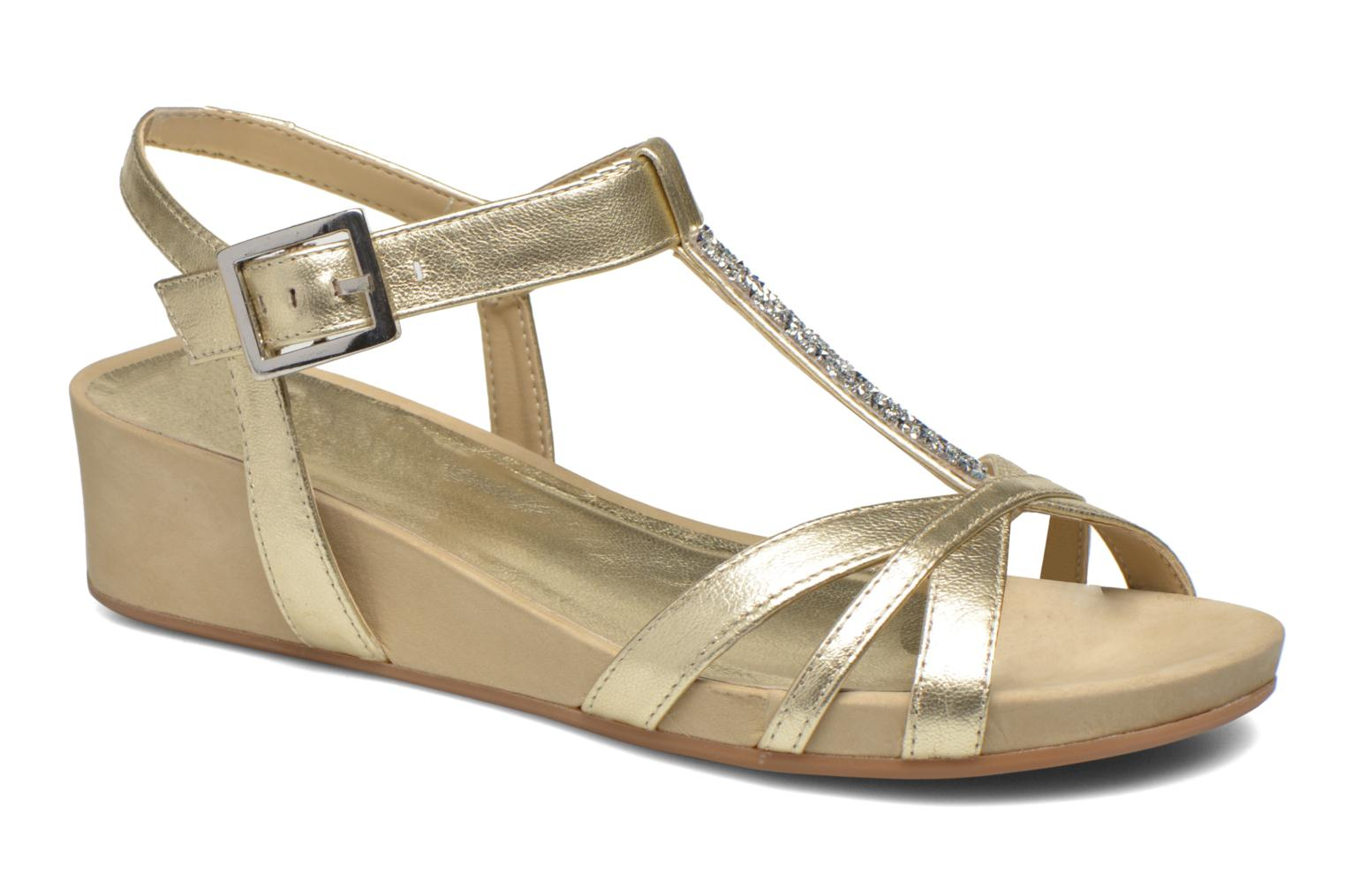 Sandals Unisa Boili Bronze and Gold detailed view/ Pair view