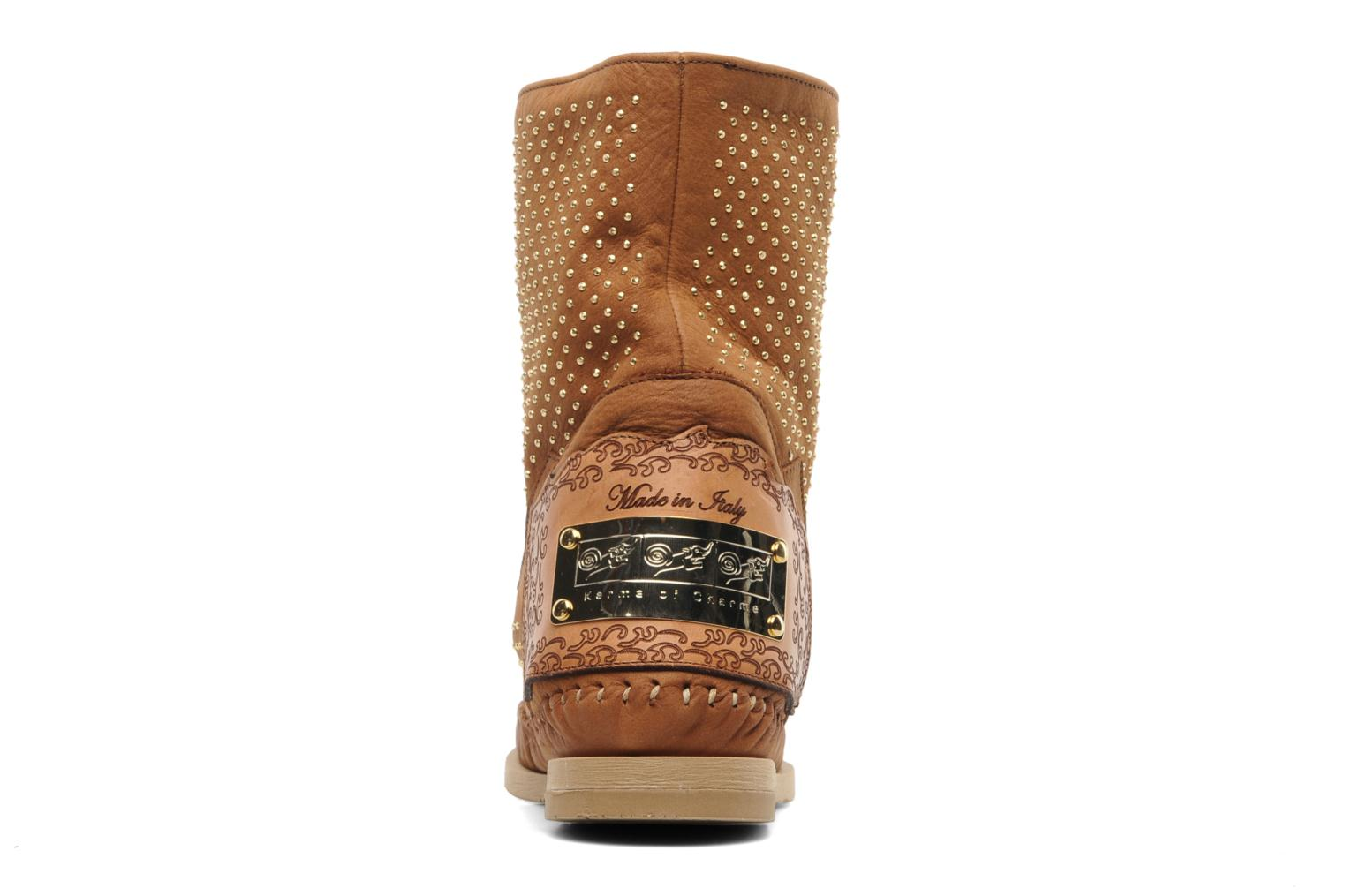 Ankle boots Karma of Charme Diamonds Gold Brown view from the right