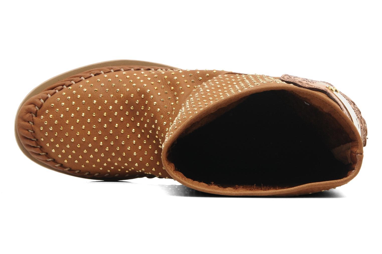 Boots en enkellaarsjes Karma of Charme Diamonds Gold Bruin links