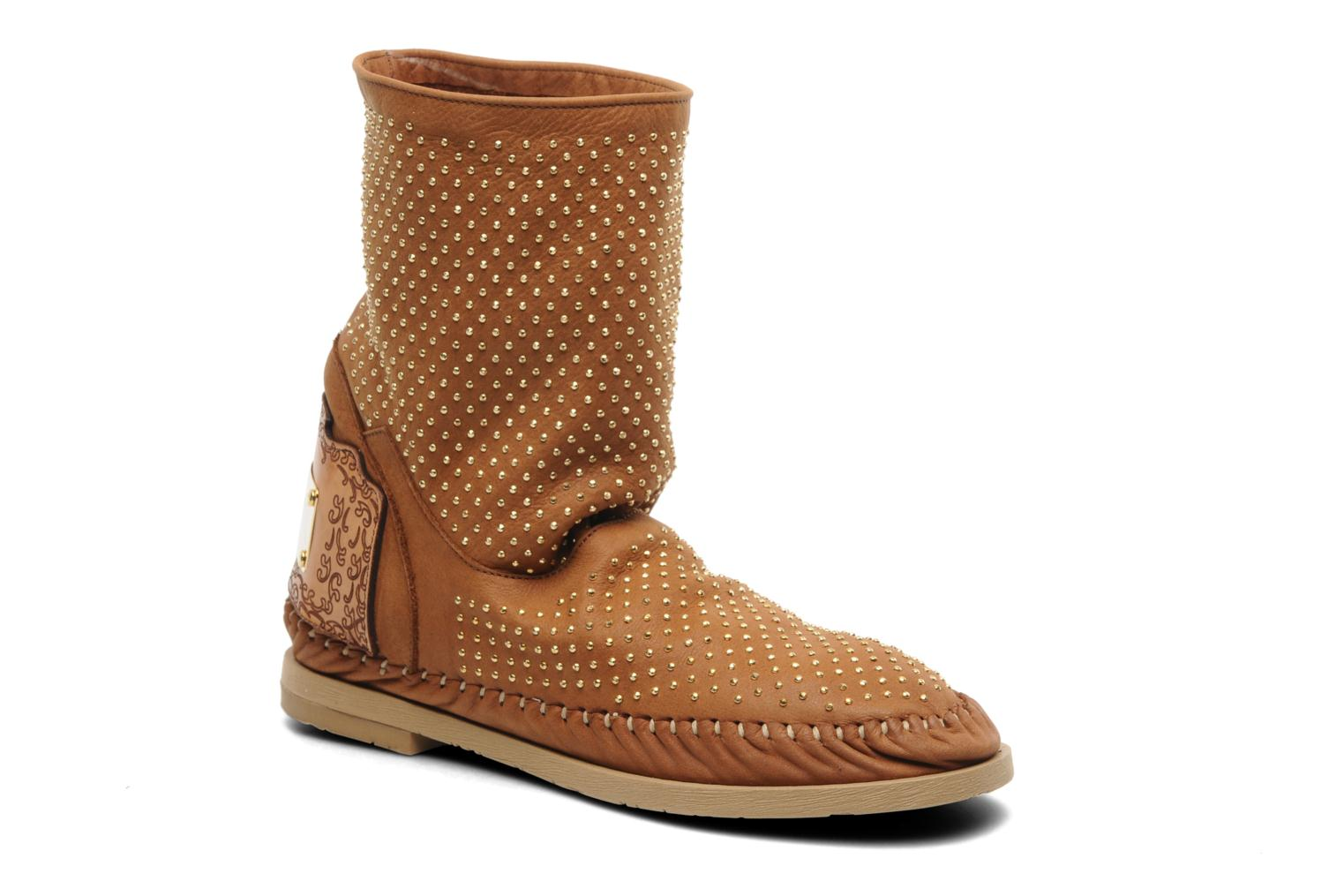 Ankle boots Karma of Charme Diamonds Gold Brown detailed view/ Pair view