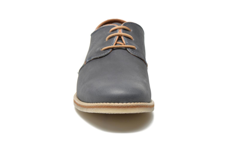 Zapatos con cordones Panama Jack Goodman Azul vista del modelo