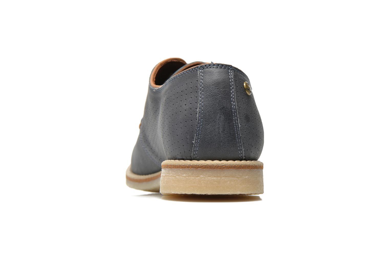 Zapatos con cordones Panama Jack Goodman Azul vista lateral derecha