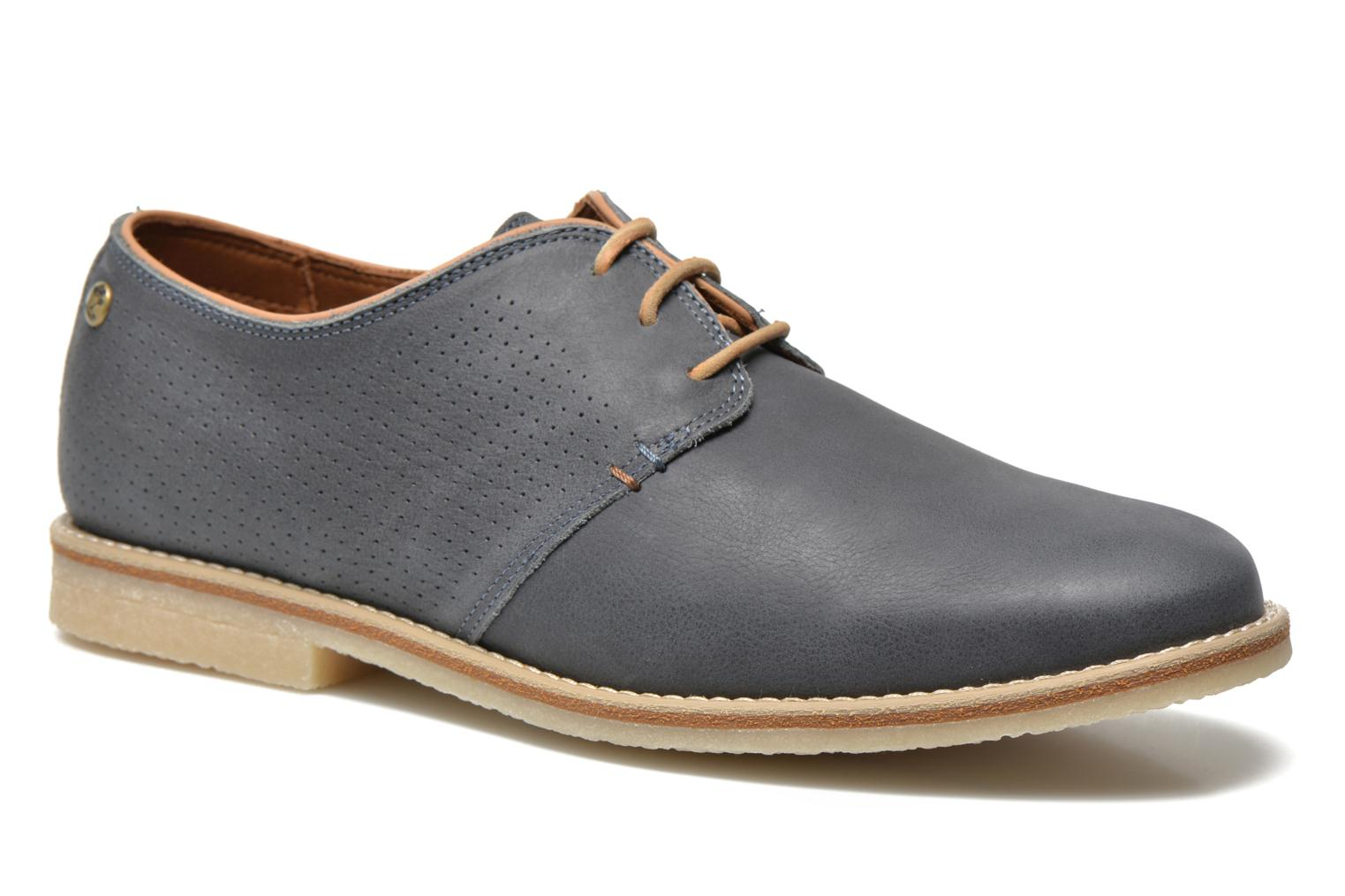 Lace-up shoes Panama Jack Goodman Blue detailed view/ Pair view