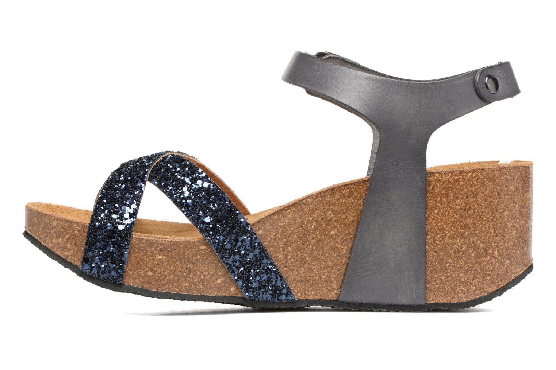 Sandales et nu-pieds Plakton So fine Bleu vue face