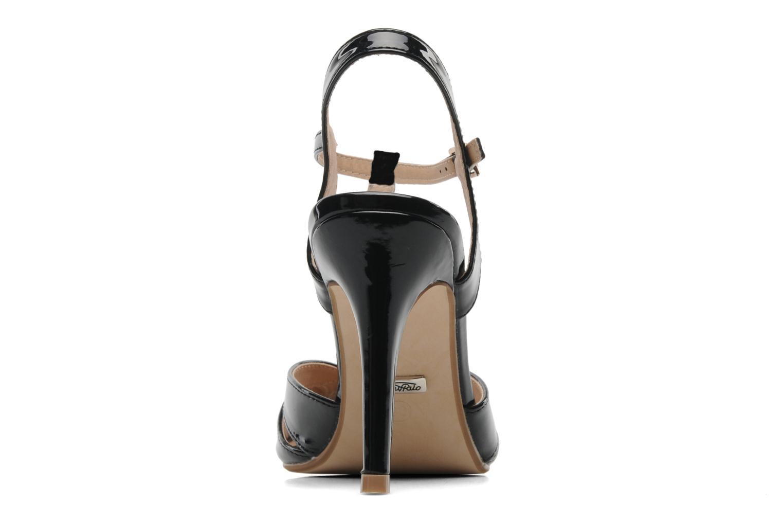Sandales et nu-pieds Buffalo Booste Noir vue droite