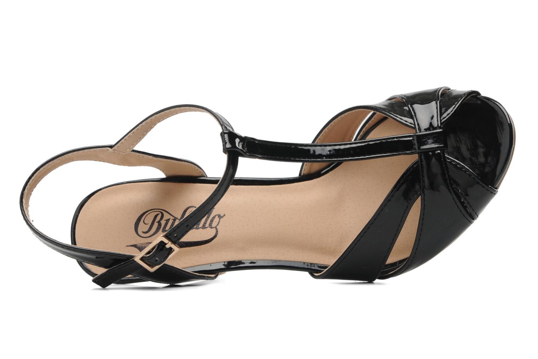Sandales et nu-pieds Buffalo Booste Noir vue gauche
