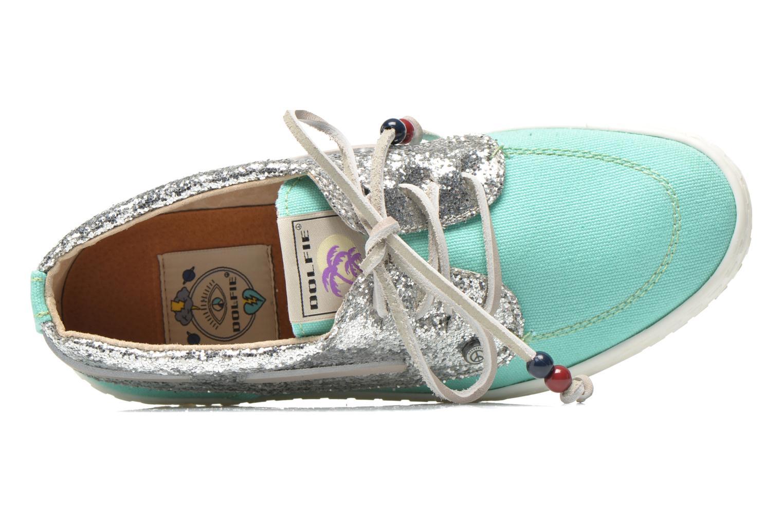 Zapatos con cordones Dolfie Dylan W Verde vista lateral izquierda