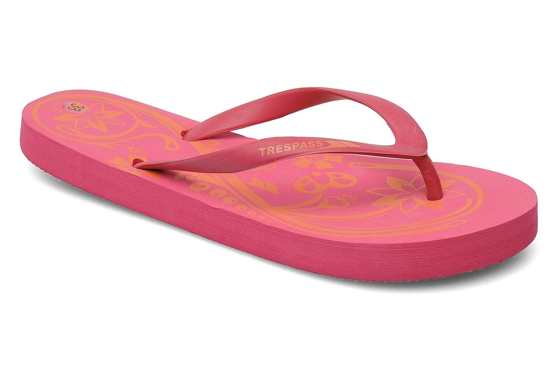 Slippers Trespass Flo Roze detail
