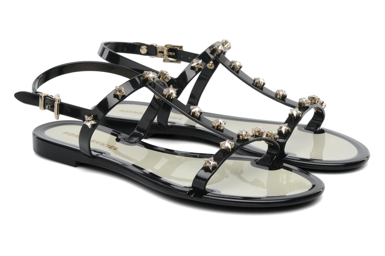 Sandales et nu-pieds Sonia Rykiel Poulette Noir vue 3/4