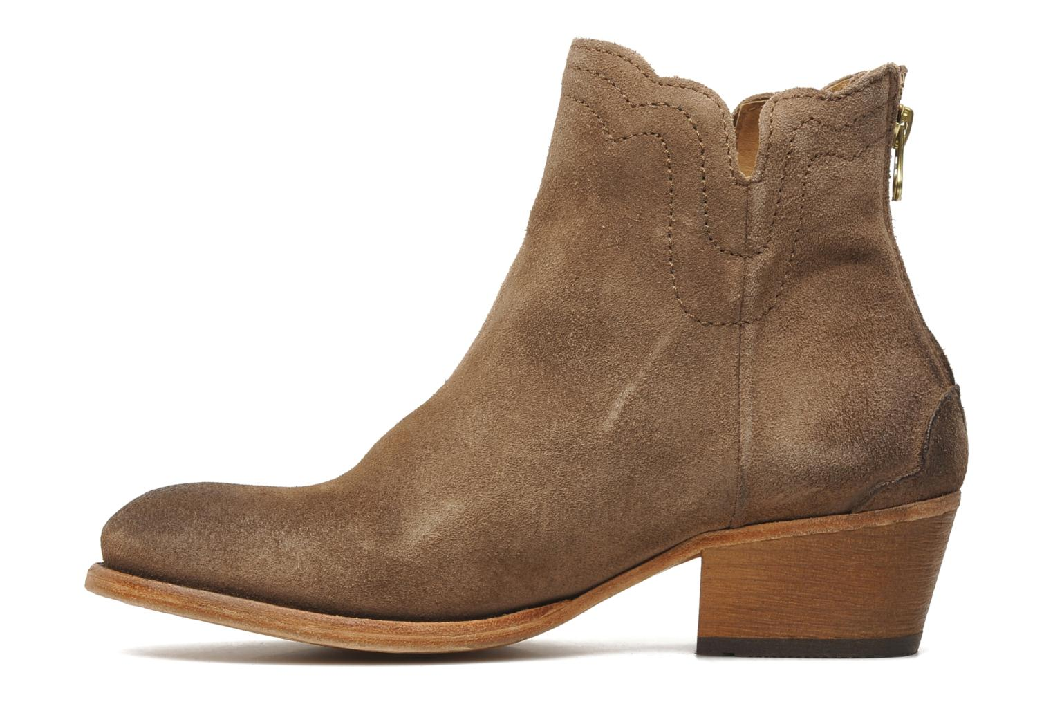 Bottines et boots H By Hudson Mistral Beige vue face