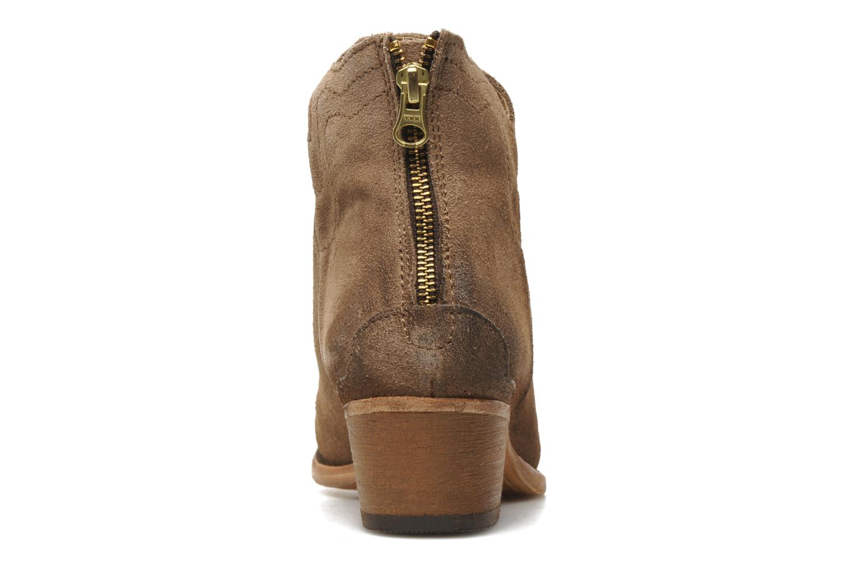 Bottines et boots H By Hudson Mistral Beige vue droite