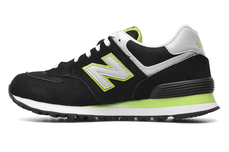 Sneakers New Balance WL574 Sort se forfra
