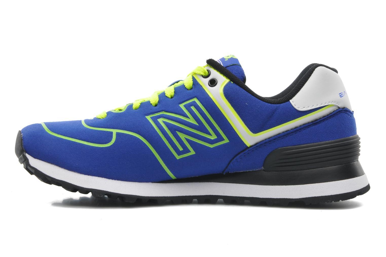 Sneaker New Balance WL574 blau ansicht von vorne