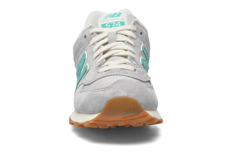 Sneaker New Balance WL574 grau schuhe getragen