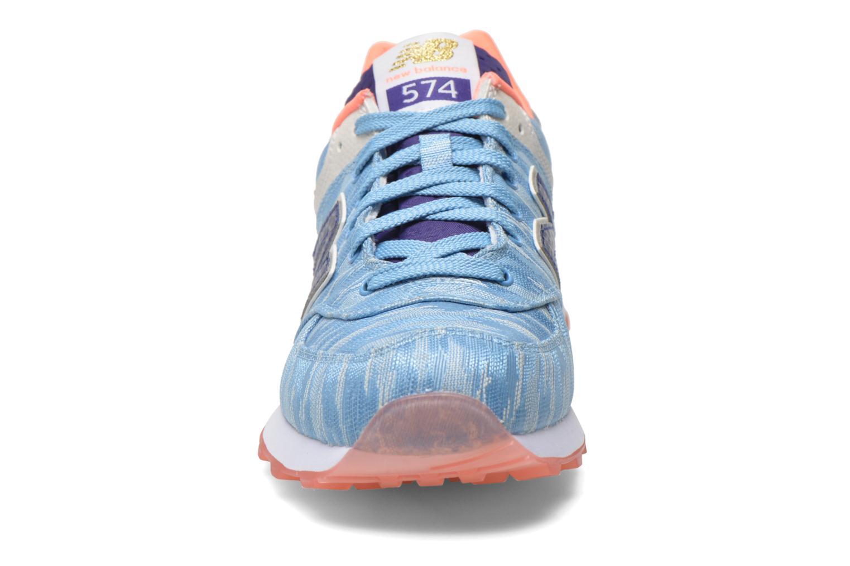 Sneaker New Balance WL574 blau schuhe getragen