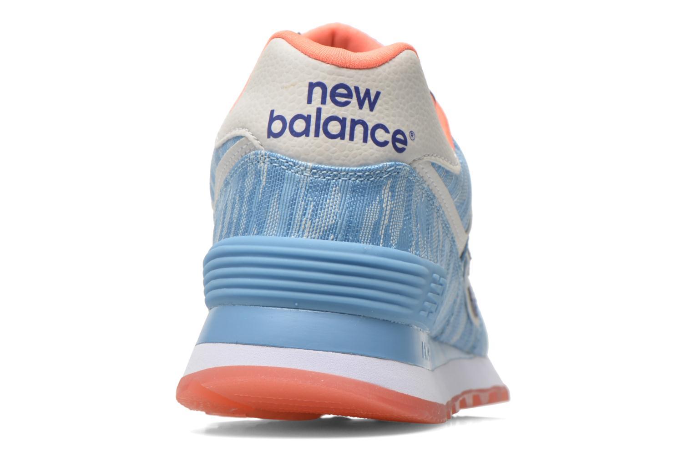 Sneaker New Balance WL574 blau ansicht von rechts