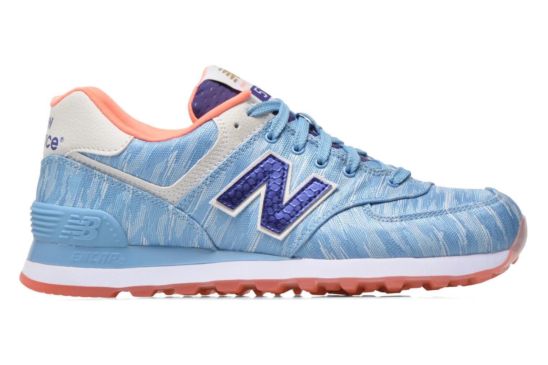Sneaker New Balance WL574 blau ansicht von hinten