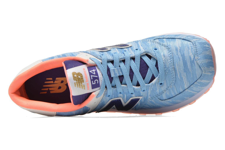 Sneaker New Balance WL574 blau ansicht von links