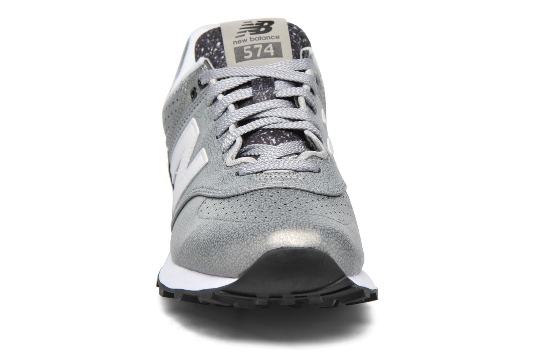Sneaker New Balance WL574 silber schuhe getragen