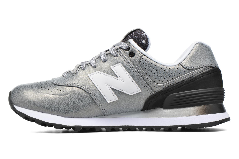 Sneaker New Balance WL574 silber ansicht von vorne
