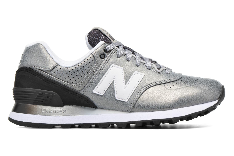 Sneaker New Balance WL574 silber ansicht von hinten