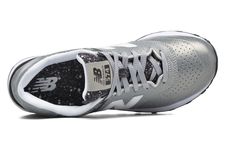 Sneaker New Balance WL574 silber ansicht von links
