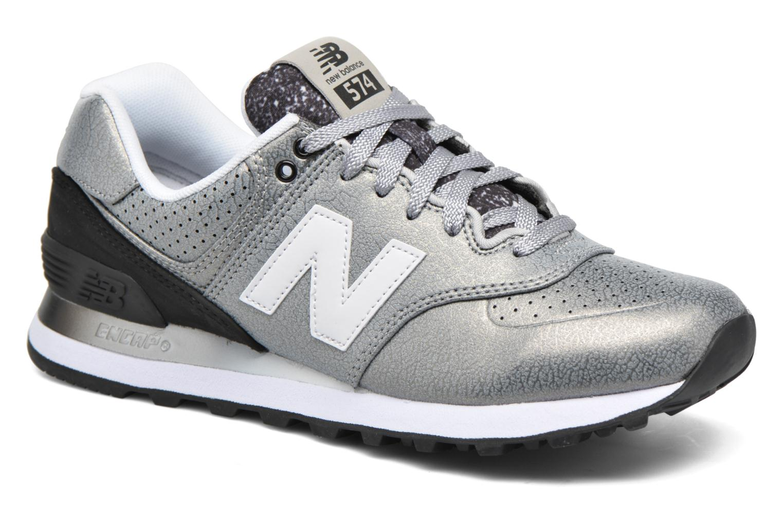 Sneaker New Balance WL574 silber detaillierte ansicht/modell