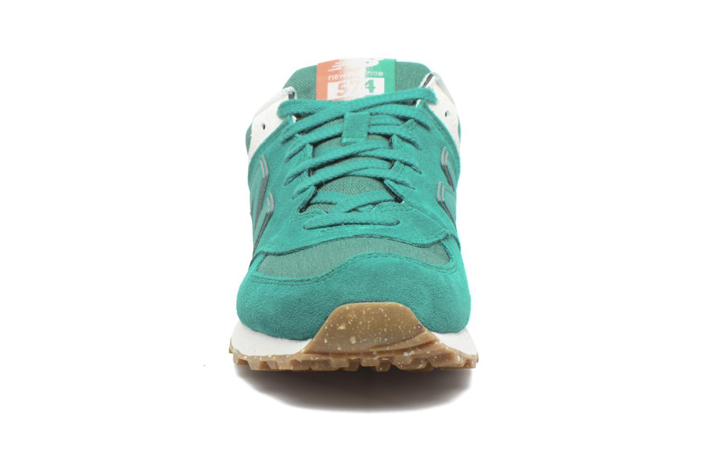 Sneaker New Balance WL574 grün schuhe getragen