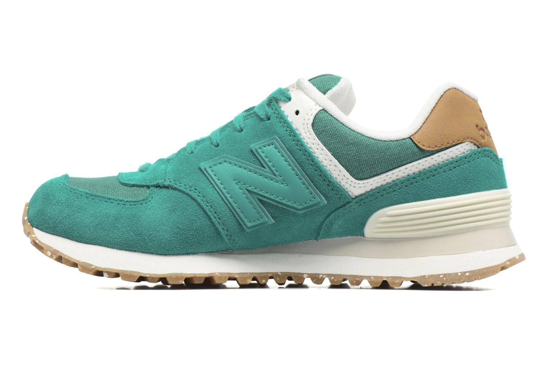 Sneaker New Balance WL574 grün ansicht von vorne