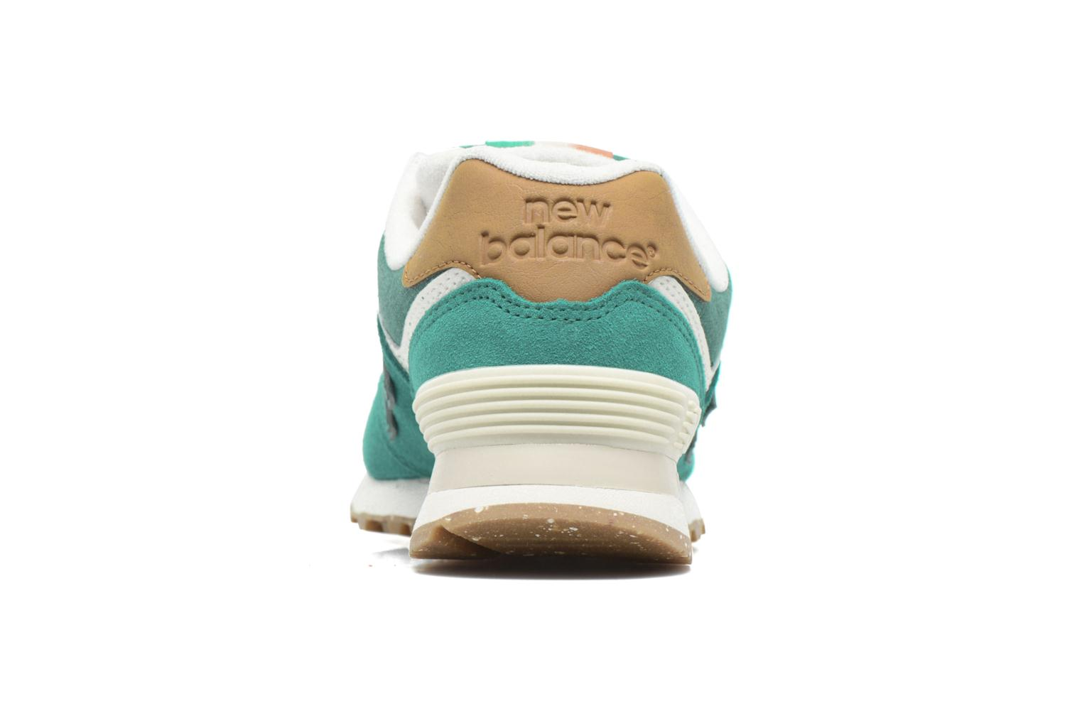 Trainers New Balance WL574 Green view from the right