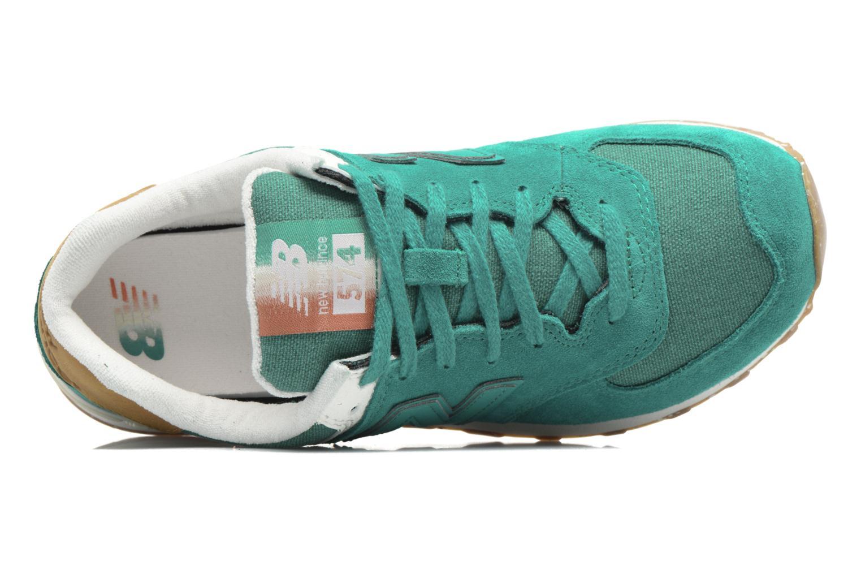 Sneaker New Balance WL574 grün ansicht von links