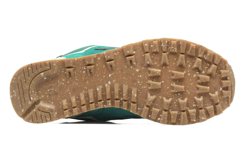 Sneaker New Balance WL574 grün ansicht von oben