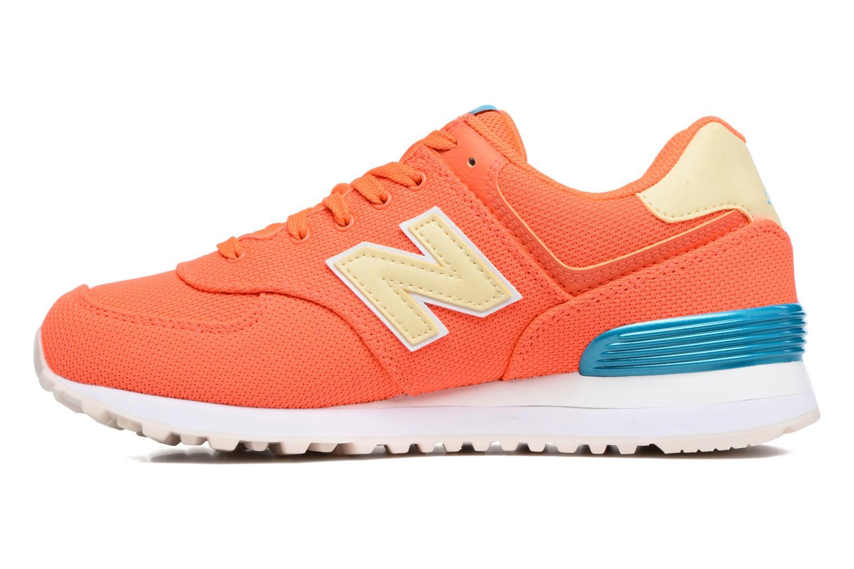 Sneakers New Balance WL574 Oranje voorkant