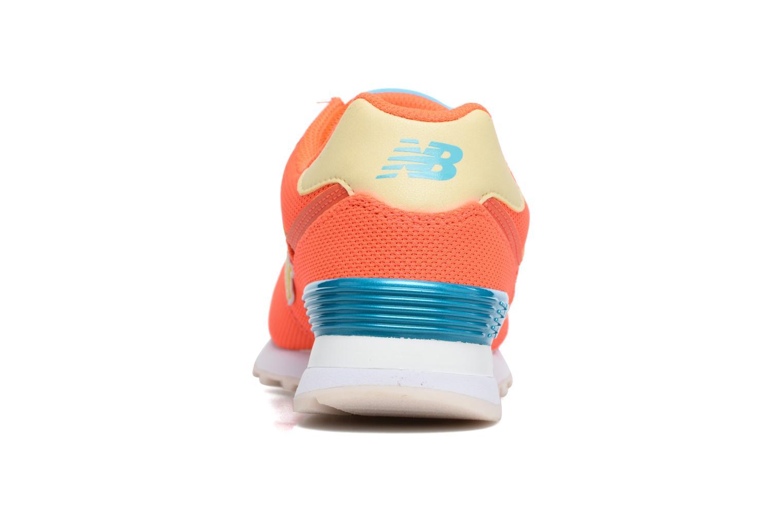 Baskets New Balance WL574 Orange vue droite