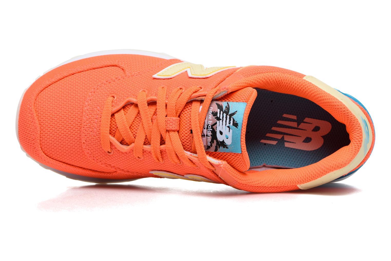 Sneaker New Balance WL574 orange ansicht von links