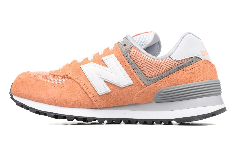 Sneaker New Balance WL574 orange ansicht von vorne