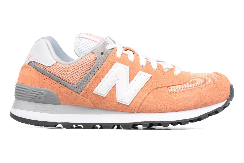 Sneaker New Balance WL574 orange ansicht von hinten