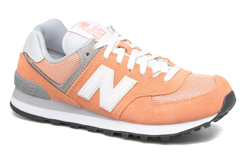 Trainers New Balance WL574 Orange detailed view/ Pair view