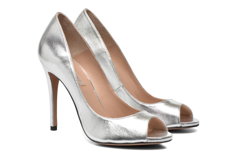 High heels Pura Lopez Gabriella Silver 3/4 view