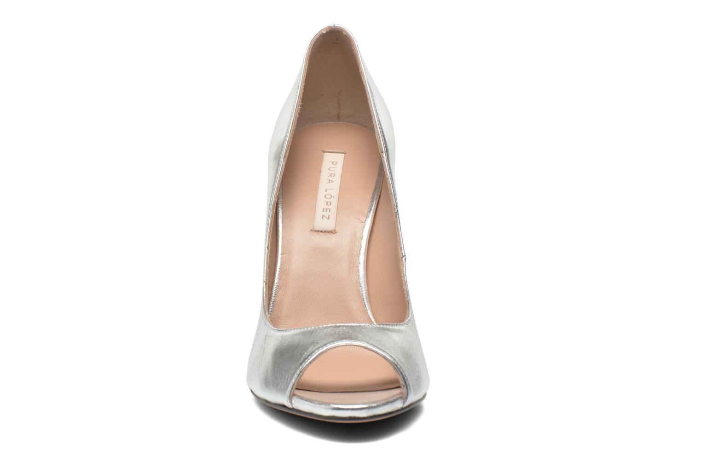 Escarpins Pura Lopez Gabriella Argent vue portées chaussures