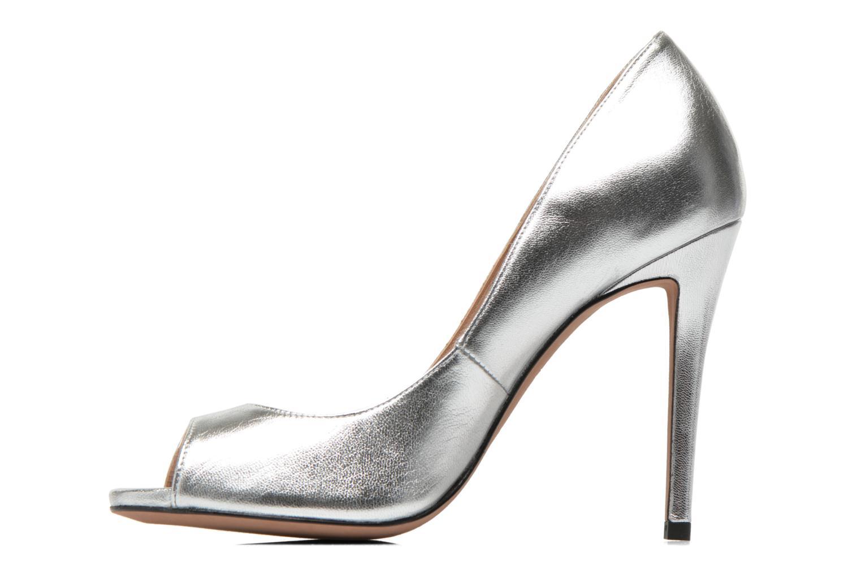 High heels Pura Lopez Gabriella Silver front view