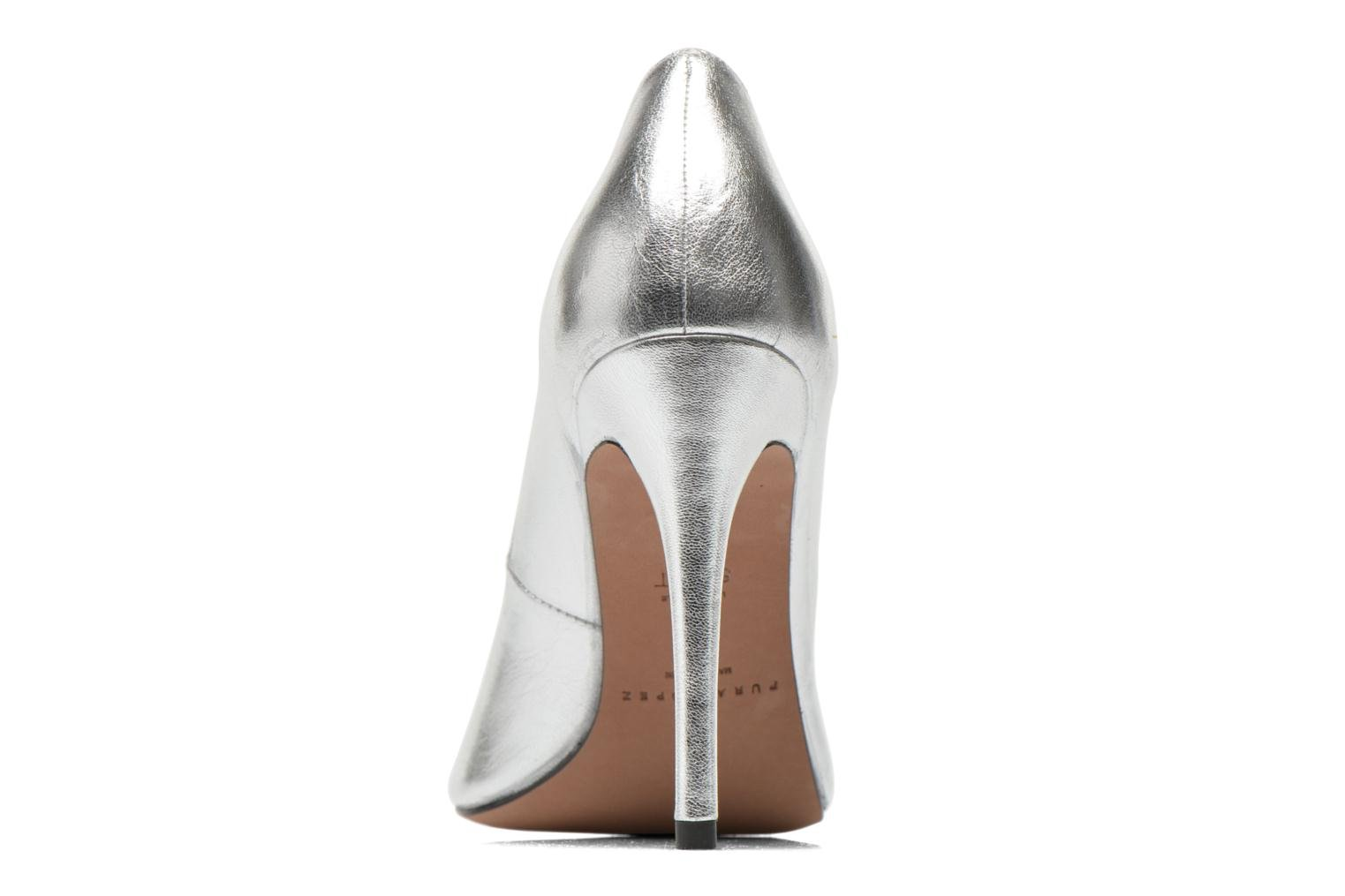 High heels Pura Lopez Gabriella Silver view from the right