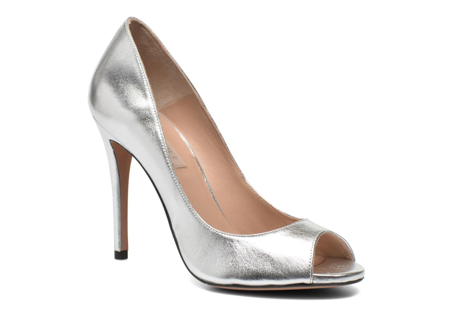 High heels Pura Lopez Gabriella Silver detailed view/ Pair view