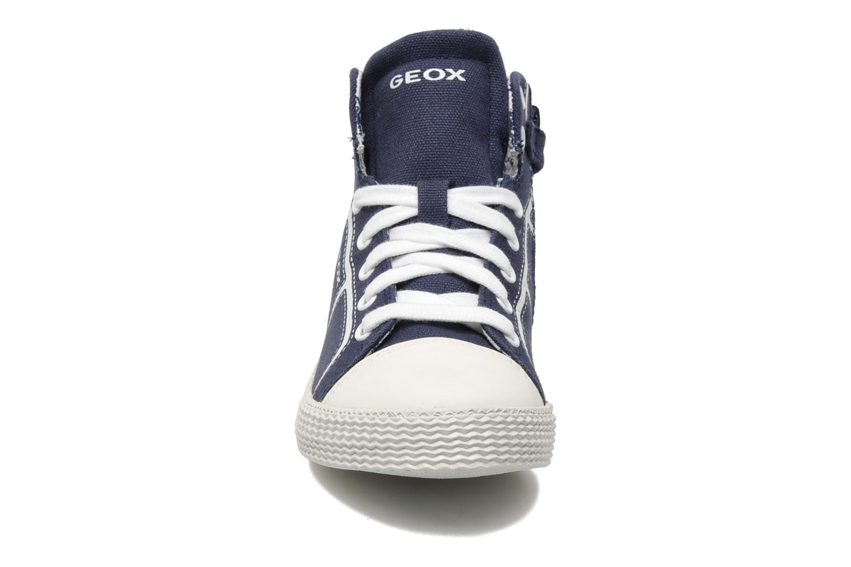 Baskets Geox J SMART B. A Bleu vue portées chaussures