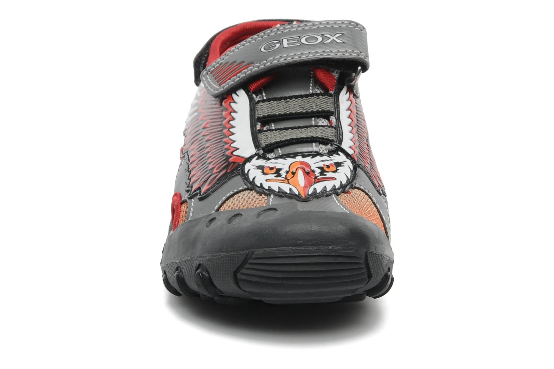 Sandales et nu-pieds Geox J SAND. KYLE A Rouge vue portées chaussures