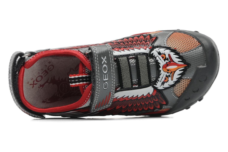 Sandales et nu-pieds Geox J SAND. KYLE A Rouge vue gauche