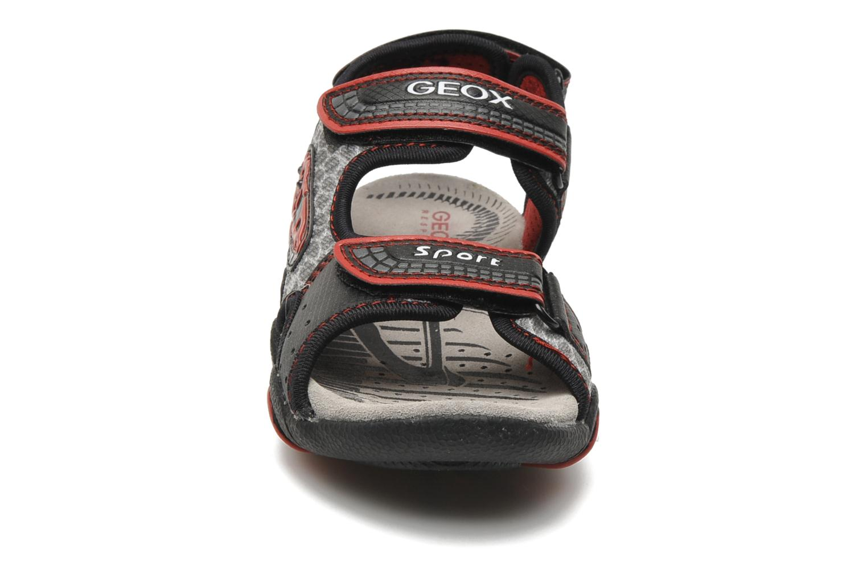 Sandalen Geox J S.STRIKE F schwarz schuhe getragen