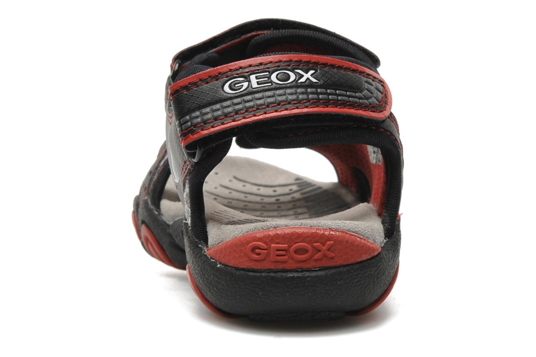Sandalen Geox J S.STRIKE F schwarz ansicht von rechts
